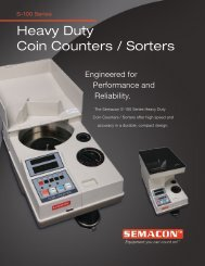 S-100 Series Heavy Duty Coin Counters / Sorters - Check Writers
