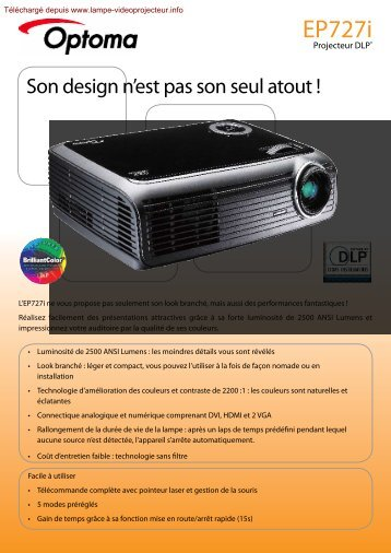 EP727i - Lampe-videoprojecteur.info