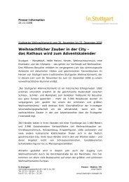 das Rathaus wird zum Adventskalender - Stuttgarter Weihnachtsmarkt