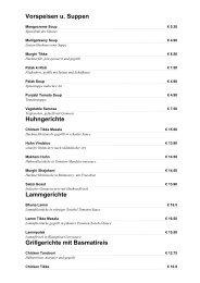 Vorspeisen u. Suppen - Restaurant Homepage