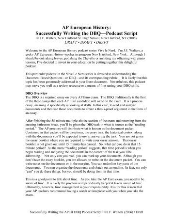 ap world history dbq essay example ap world history the  ap world history 2006 dbq essay example