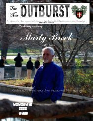 Dedicated Edition of The Outburst - Bishop Ward High School