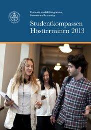 Studentkompass BScBE.pdf - Handelshögskolan i Stockholm