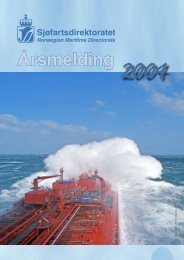 Årsmelding for 2004 - Sjøfartsdirektoratet