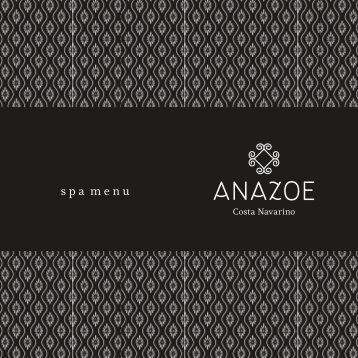 Anazoe Spa menu - Costa Navarino