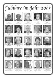 Jubilare im Jahr 2005
