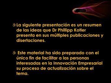 La siguiente presentación es un resumen de las ideas que Dr Phillipp