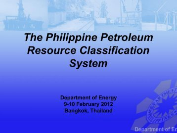 The Philippine Petroleum Resource Classification System - CCOP