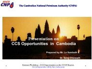 CO2 Geological Storage Capacity Estimation in Cambodia ... - CCOP