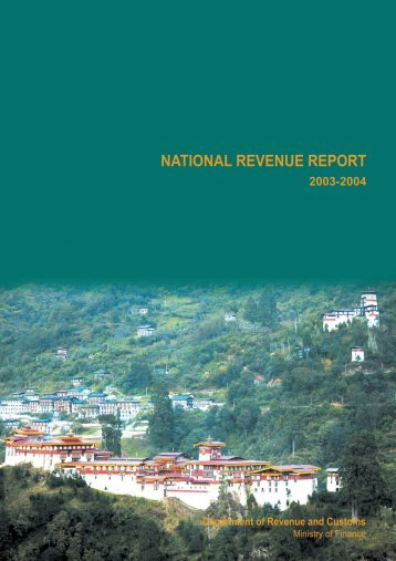 Revenue Report for (2003-2004) - Ministry of Finance