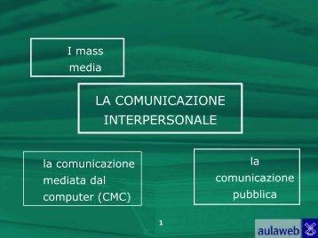 3. La comunicazione di massa