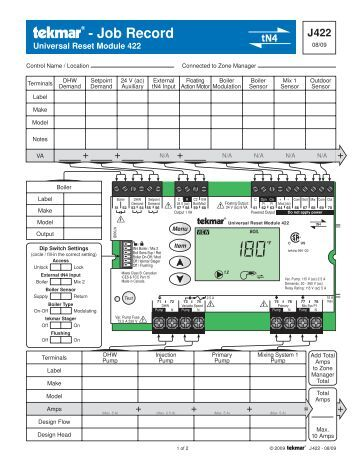 Installation, Step four, Step one – tekmar 650 Snow Melting Control User Manual