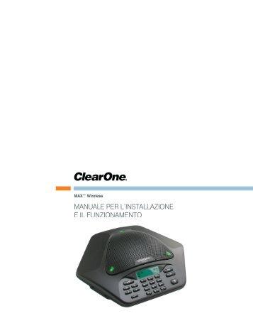 Manuale per l'installazione e il funzionaMento - ClearOne