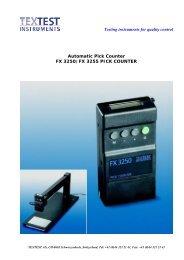Brochure for FX 3250 Pick Counter - ATI Corp