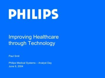 Improving Healthcare through Technology