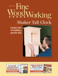 Shaker Tall Clock.pdf - Fine Woodworking