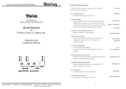 Profibus repeater manual.