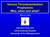 Venous Thromboembolism Prophylaxis Who, when and what?