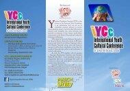 International Youth Cultural Conference - Sarawak Development ...