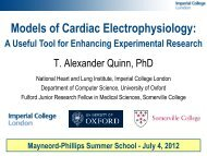 1 Models of Cardiac Electrophysiology - The Mayneord Phillips Trust