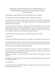 Accordo Letta Provincia Bolzano 5 agosto - Provincia Autonoma di ...