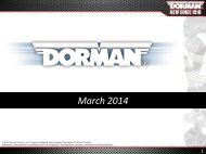 Investor Presentation - Dorman Products