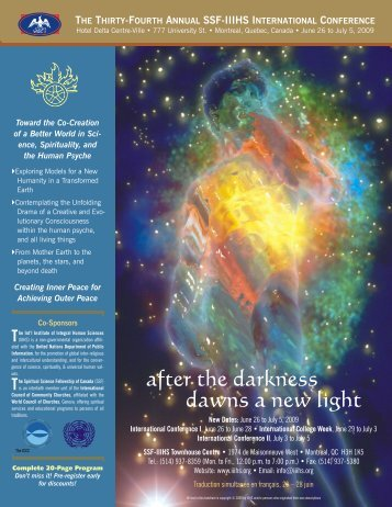 after the darkness - The International Institute of Integral Human ...