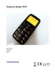 Senioren Handy W03 - Avcibase