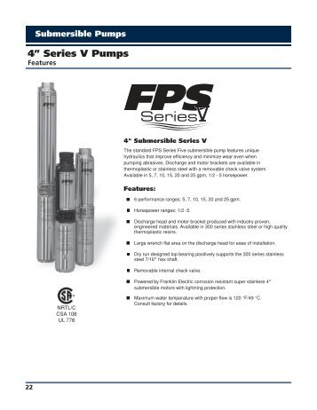 FPS Series V - Franklin Electric