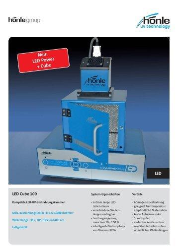 Produktinformation LED Cube 100 - Dr. Hönle AG