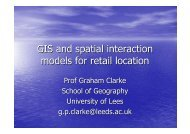GIS and spatial interaction models for retail location