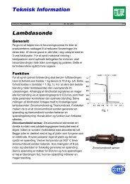 Teknisk Information Lambdasonde - ToleranceData.com