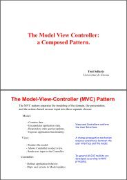 The Model View Controller: a Composed Pattern.