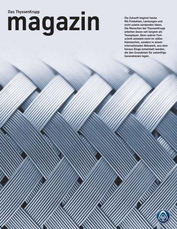 Thyssenkrupp magazin 2/2004
