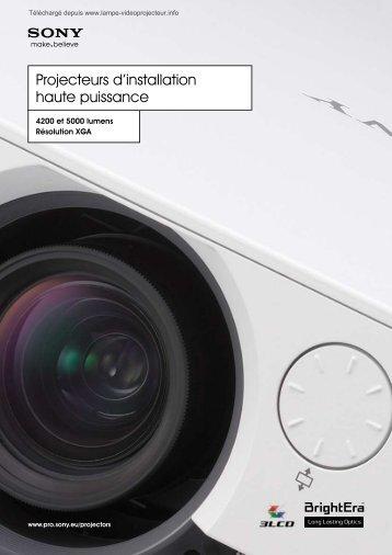 Fiche technique (PDF) - Lampe-videoprojecteur.info