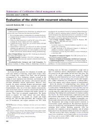 Evaluation of the child with recurrent wheezing - JACI 2011 ... - AInotes