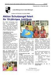 Aktion Schutzengel feiert Ihr 10-jähriges Jubiläum - Marktgemeinde ...