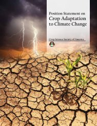 CSSA Position Statement on Crop Adaptation to Climate Change