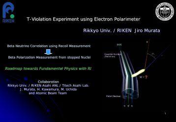 T-Violation Experiment using Electron Polarimeter