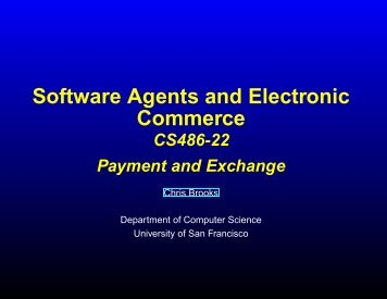 Payment mechanisms - Computer Science - University of San ...