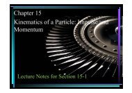 Chapter 15 Kinematics of a Particle: Impulse and Momentum