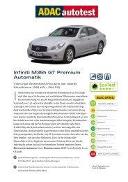 Umfassender Test Infiniti M35h GT Premium Automatik - ADAC