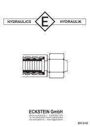 EH 3/10 HYDRAULICS HYDRAULIK ECKSTEIN GmbH