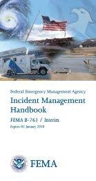 Incident Management Handbook FEMA B-761  / Interim - APHIS
