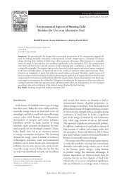 Environmental Aspects of Burning Field Residues for Use ... - NS seme