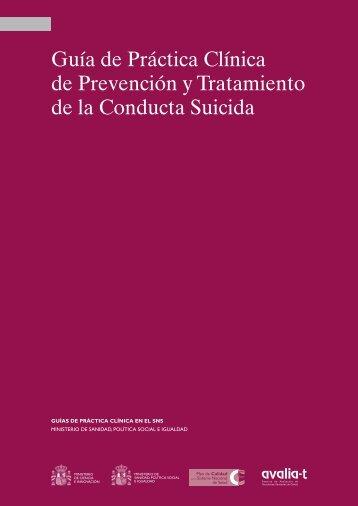 GPC de Prevención y Tratamiento de la Conducta Suicida - GuíaSalud