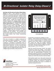Intellitec 00-00629-240-24 Volt Isolator Relay Delay