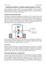 Sostituzione batterie e modifica impianto elettrico di Lurch