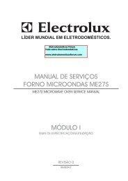 módulo i manual de serviços forno microondas me27s - Portal do ...