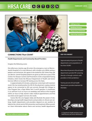 ConneCtions that Count - HRSA HIV/AIDS Programs